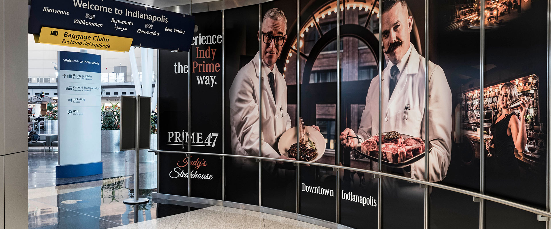 Prime47Airport Print Advertising: Prime 47