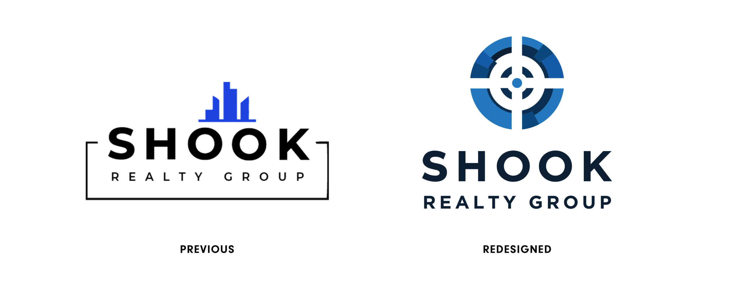 Shook beforeafter scaled Brand Guideline and Logo Refresh: Shook Realty Group