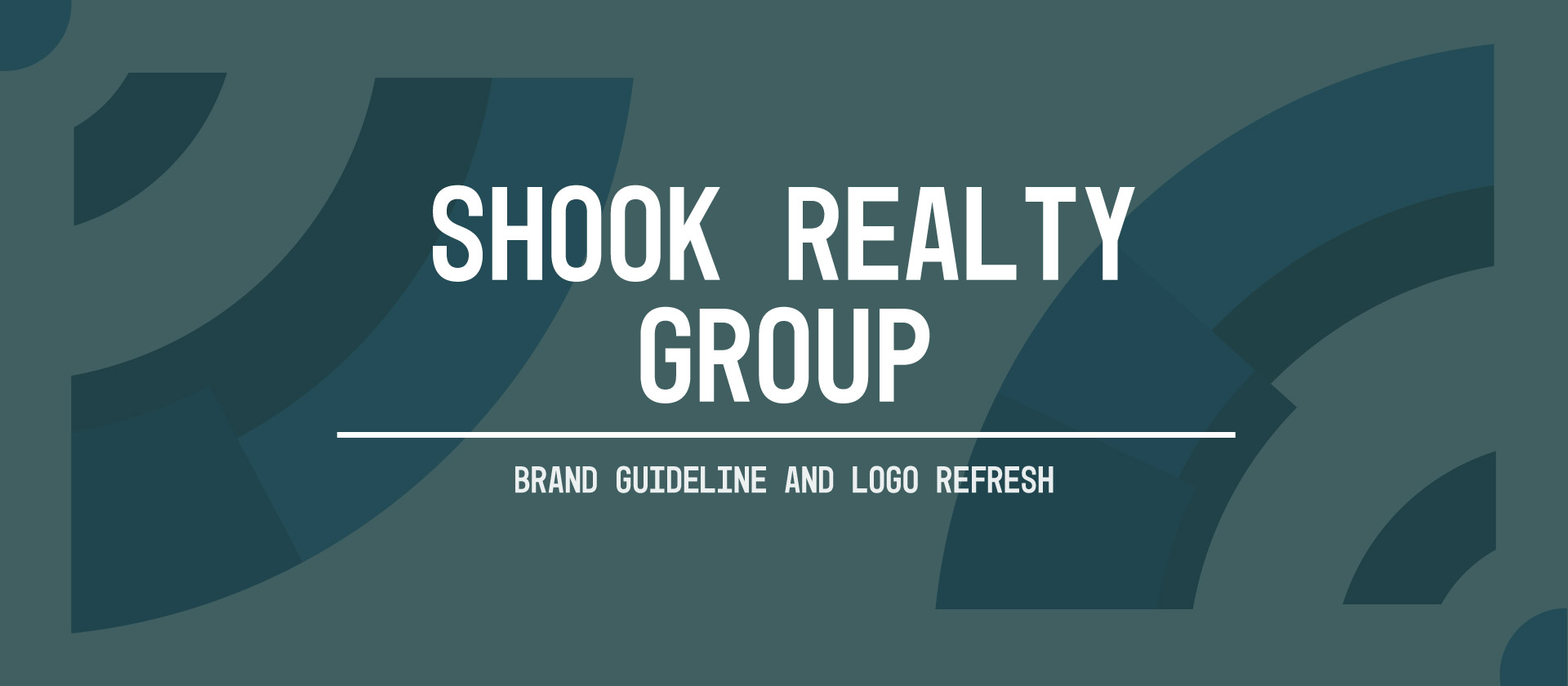 shook Header Brand Guideline and Logo Refresh: Shook Realty Group