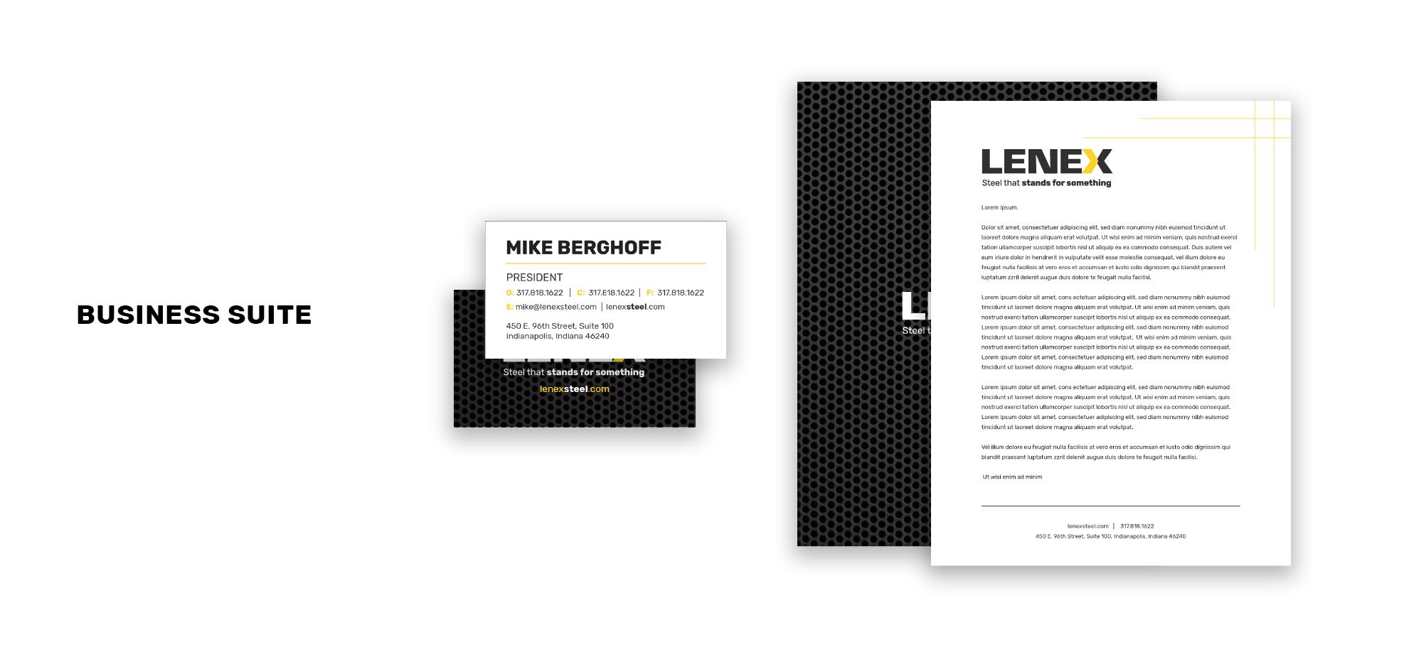 Lenex Case Study Pic1Artboard 3 Brand Guideline and Logo Refresh: Lenex Steel