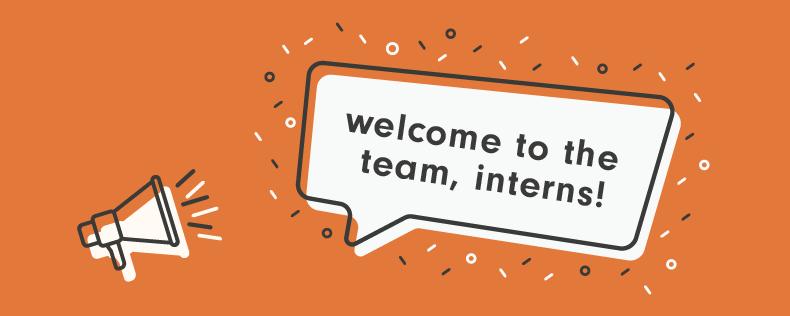 Welcome, Interns